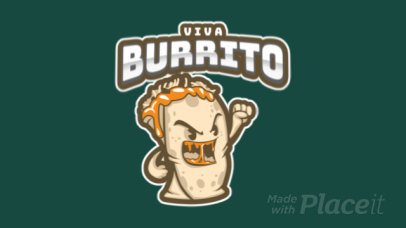 Animated Sports Logo Template Featuring a Cartoonish Burrito Graphic a484t 2964