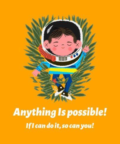 Autism Awareness T-Shirt Design Template Featuring Children Illustrations 2254