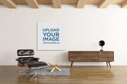 Art Print Mockup Featuring Modern Furniture 2538-el1
