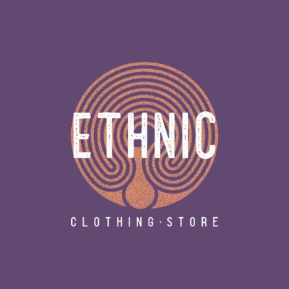 Logo Template for an Apparel Store Featuring a Circular Pattern 860a-el1