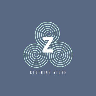 Clothing Brand Logo Generator with a Spiral Pattern 860b-el1