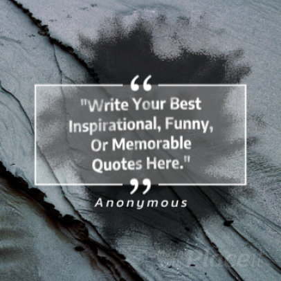 Instagram Video Maker for an Inspirational Quote Post with Animated Ink 1550