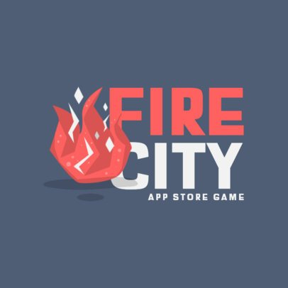 Mobile Gaming Logo Creator Featuring a Fire Flame 870c-el1