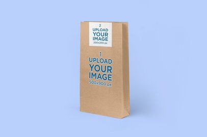 Paper Bag Mockup Featuring a Solid-Color Background 2612-el1