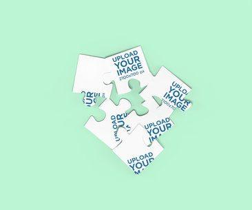 Mockup of a Puzzle with Scrambled Pieces 2683-el1