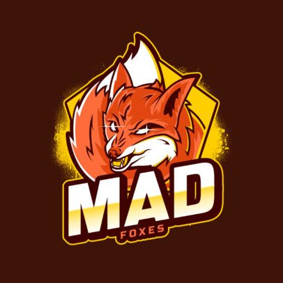 Logo Creator Featuring a Mad Fox Clipart 2975f