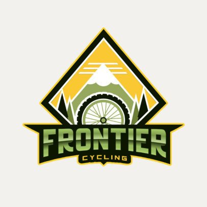 Mountain Biking Sports Team Logo Maker 2968d