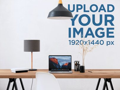 Wallpaper Mockup Featuring a Working Space Desk 2704-el1
