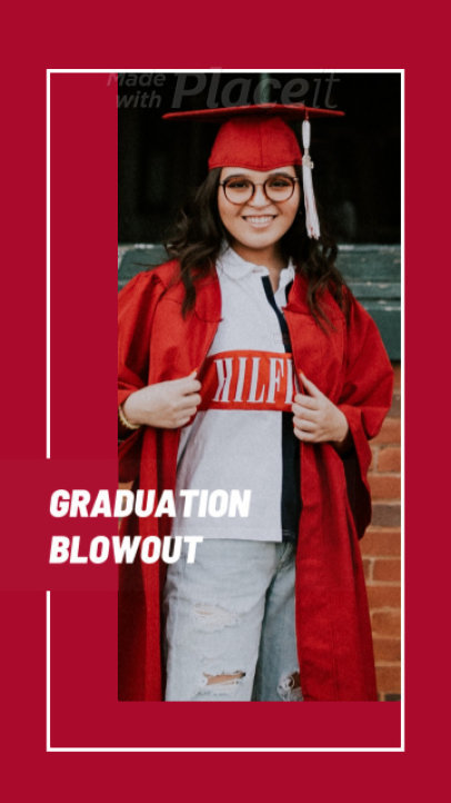 Instagram Story Video Maker for a Graduation Special Promo 1387a 1839