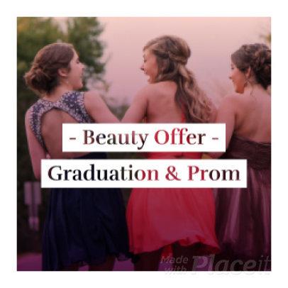Instagram Video Maker for a Beauty Offer for Prom 875c 1844
