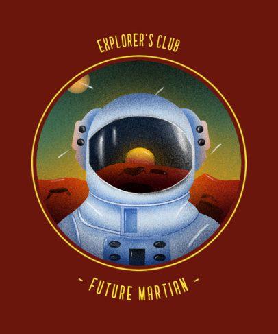 Retro T-Shirt Design Maker For a Science-Related Club 2255a