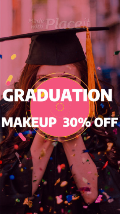 Instagram Story Maker for a Graduation Makeup Promo 942g-1841