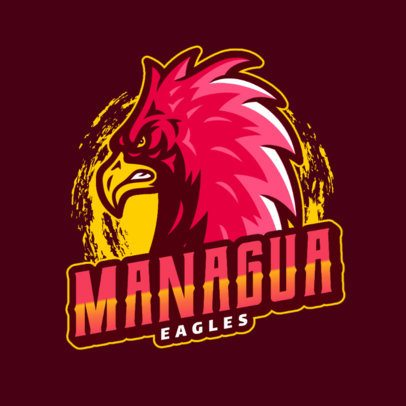 Sports Logo Template with a Mad Eagle 2975n