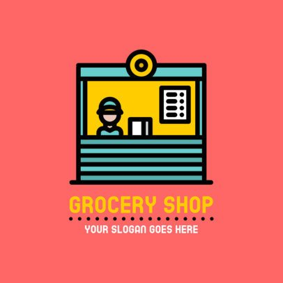 Grocery Store Logo Template with a Dispatcher Graphic 882c-el1