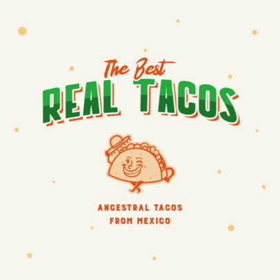 Restaurant Logo Template with a Mexican Taco Graphic 2978g