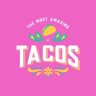Taco Place Logo Generator With Mexican-Styled Graphics 2976a