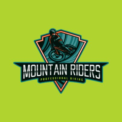 Online Logo Template for a Mountain Biking Club 2968i