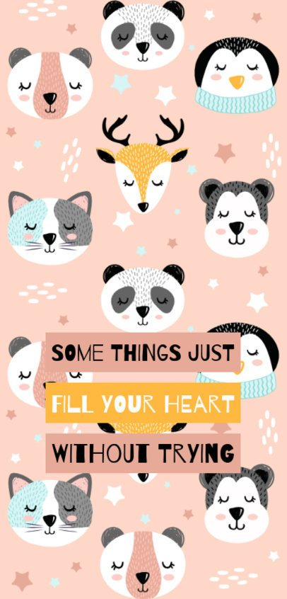 Phone Case Design Template Featuring Cute Animals 2306