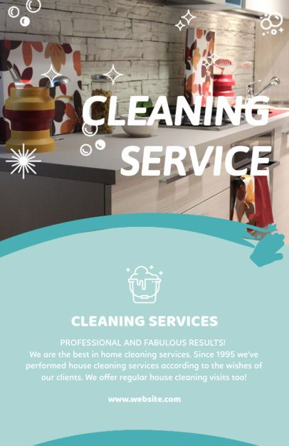 Flyer Template for House Cleaning Services 283b