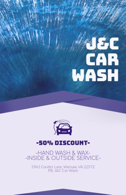 Flyer Maker for a Car Wash Service Promo 188c