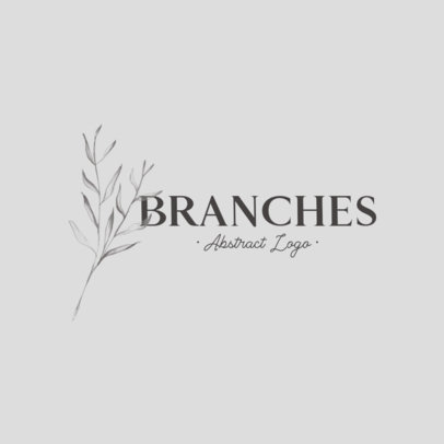 Logo Maker with an Abstract Design and Branch Graphics 912-el1