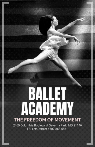 Elegant Flyer Design Creator for a Ballet Academy 139c