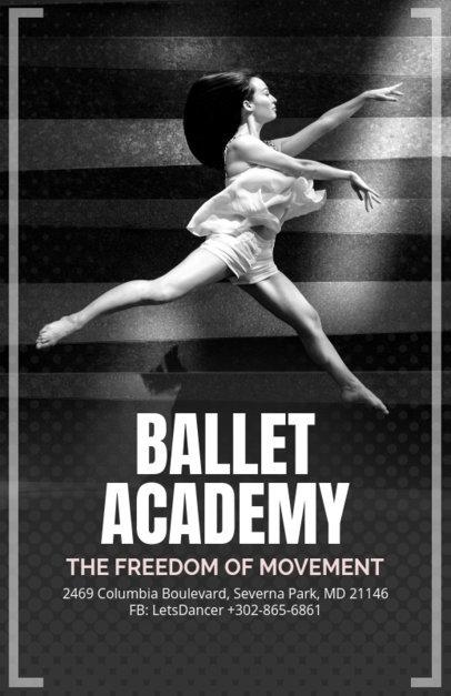 Elegant Flyer Design Creator for a Ballet Academy 139c