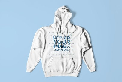Mockup of a Flat-Laid Hoodie with Two Label Tags 3024-el1
