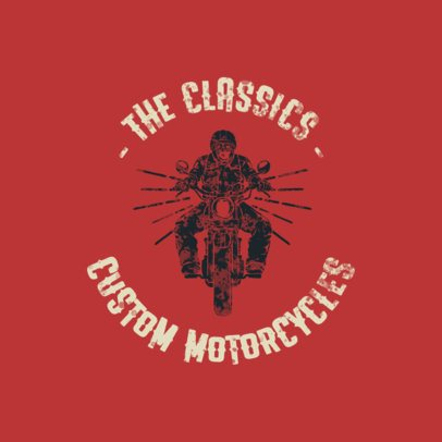 Cool Logo Template with Motorcycle Graphics 923-el1