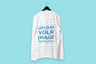 Back-View Mockup of a Sweatshirt on a Hanger 3014-el1