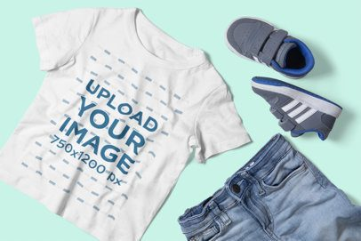T-Shirt Mockup of a Boy's Outfit 2999-el1