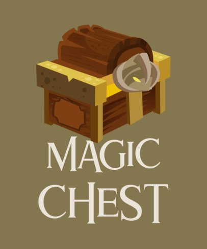 T-Shirt Design Creator with a Treasure Chest Clipart 916b-el1