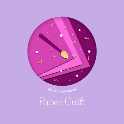 Arts and Crafts Logo Generator With a Paper Cut Design 2999f