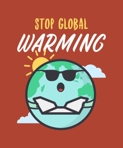 Earth Day T-Shirt Design Maker for a Global Warming Awareness 2301e