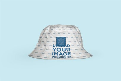 Mockup of a Bucket Hat Against a Customizable Background 3057-el1