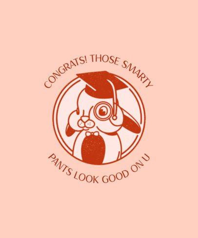 T-Shirt Design Maker with a Graduated Bunny 2304e