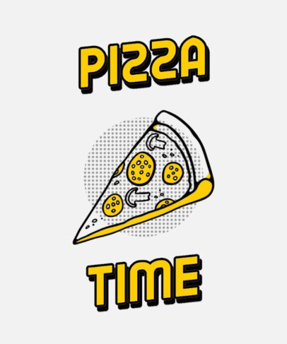 T-Shirt Design Creator Featuring a Pizza Slice Graphic 296c-el1