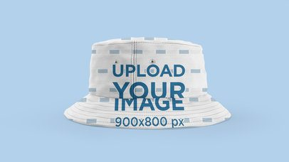 Bucket Hat Mockup Featuring a Customizable Background 3029-el1