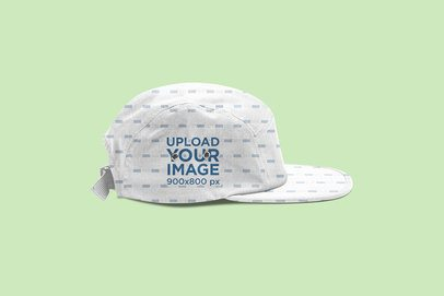 Panel Hat Mockup Featuring a Plain Background 3048-el1