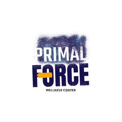 Wellness Center Logo Maker with Graffiti Stencil Art 2996d