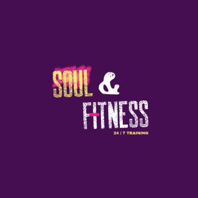 Gym Logo Template Featuring Stencil-Like Typeface 2996g
