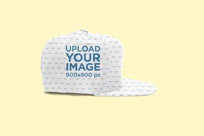 Fitted Hat Mockup with a Customizable Background 3051-el1