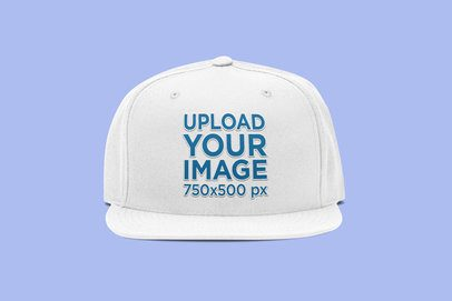 Fitted Hat Mockup Featuring a Plain Color Backdrop 3049-el1