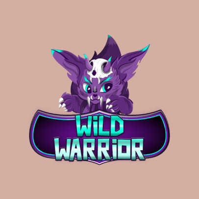 Gaming Logo Creator with a Furry Animal Character Inspired by Teamfight Tactics 3001f