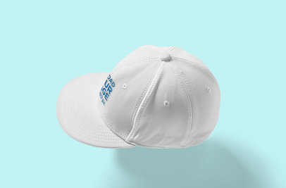 Snapback Hat Mockup Featuring a Plain Color Backdrop 3100-el1