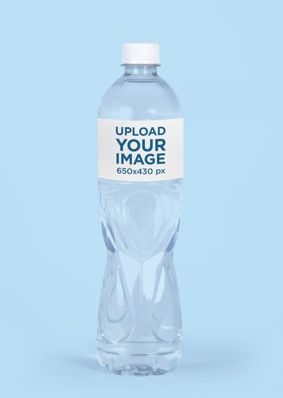 Water Bottle Mockup With a Plain Color Background 3083-el1