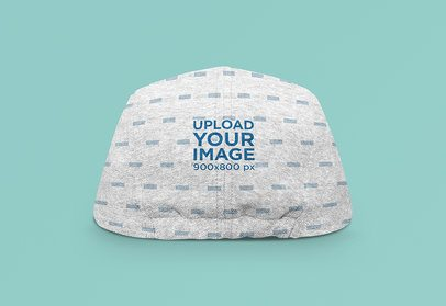 Mockup of the Back View of a Sublimated Fitted Hat 3038-el1