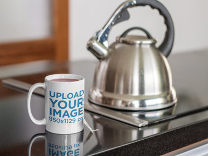 Mug of Tea Mockup in a Modern Kitchen a12275