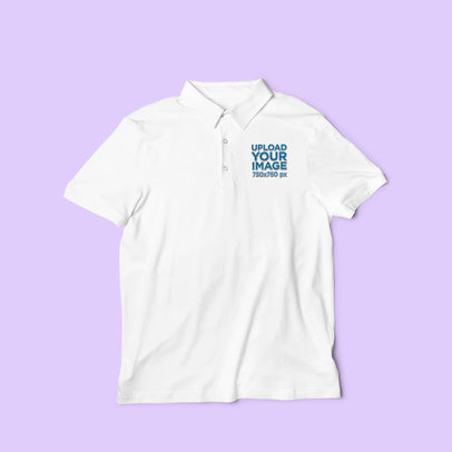 Flat Lay Mockup of a Men's Polo Shirt with Customizable Background 3197-el1