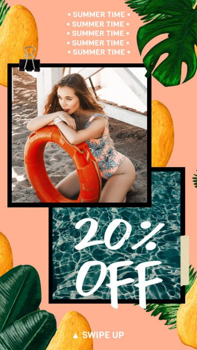 Instagram Story Maker Featuring Tropical Fruit Graphics 2320